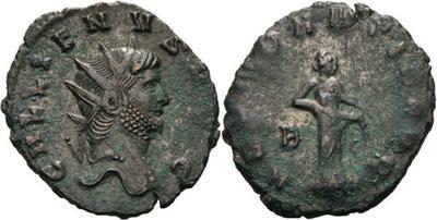 Antoniniano de Galieno. ABVNDANTIA AVG. Abundancia a izq. Roma 2449684.m