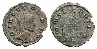 Radiado póstumo de Claudio II. CONSECRATIO. Águila 1711421.m