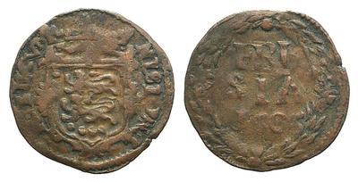 Países bajos, 10 Duit, ceca Frisia, Holanda  año 1653  1972543.m