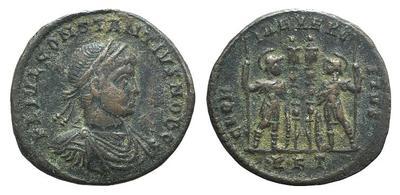 AE3 de Constancio II. GLORIA EXERCITVS. Roma 2087831.m
