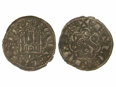 Dinero de Alfonso X de la 2ª guerra de Granada. 991220.m