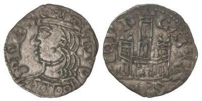 Dinero coronado o cornado de Alfonso XI. Toledo 4642570.m