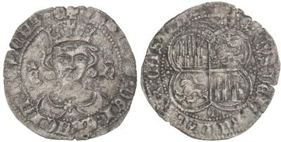 Real de vellón de Enrique II. Emisiones post-bélicas 1369 d C. 4936331.m