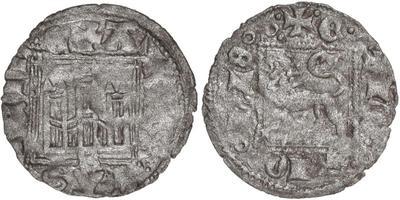 Dinero de Alfonso XI emisión de 1330. Sevilla 5264502.m
