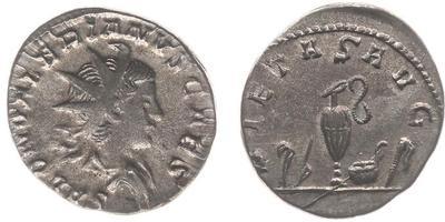 Antoniano de Salonino. PIETAS AVG. Instrumentos de sacrificio. Colonia (258-260) 7565833.m