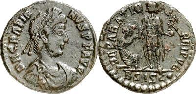 AE2 o Maiorina de Graciano. REPARATIO REI PVB. 3850971.m
