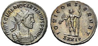 Aureliano de Diocleciano. IOVI CONSERVAT. Ticino 2274849.m
