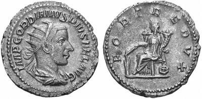 Antoniniano de Gordiano III. FORTVNA REDVX. Antioquía  167139.m