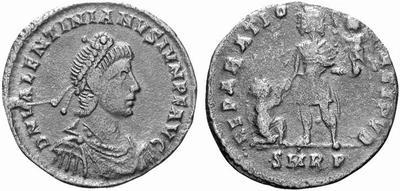 AE2 o Maiorina de Valentiniano II. REPARATIO REI PVB. Roma (¿cuño no oficial?) 167221.m