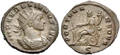 Antoniniano de Aureliano. FORTVNA REDVX. Milán 2958901.m