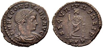 AE4 de Constancio II. SECVRITAS REIP. Roma 4748579.m
