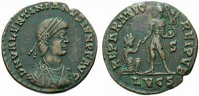 AE2 o Maiorina de Valentiniano II. REPARATIO REI PVB. ¿Lyon? 329175.m
