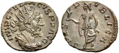 Antoniniano de Tétrico I. SPES PVBLICA. Trier 5962929.m