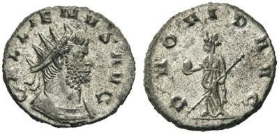 Antoniniano de Galieno.  PROVID AVG.  Milán 2464475.m