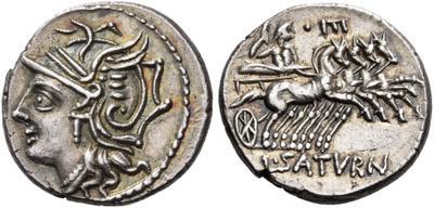 Denario forrado de la gens Sempronia. L. SEMP - ROMA . Los Dióscuros a caballo a dcha. Roma. 3854366.m