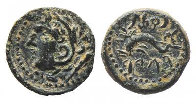 """Bronze """"quadrans"""" hibérique pour Gadès-Cadix (100-20 av. J.-C.) ... 3513061.m"""