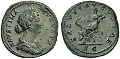 Sestercio de Faustina II. SALVTI AVGVSTAE. Roma 1995937.m