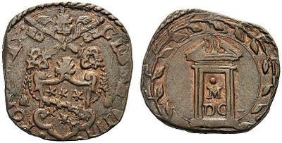 Quattrino de Clemente VIII. Año 1600 (M/DC) Roma 3809880.m
