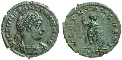 AE4 de Constantino II. VIRTVS AVGVSTI. Roma 1347431.m