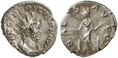 Antoniniano de Tétrico I, de cuño bárbaro. SALVS AVGG 1670151.m