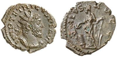 Radiado imitativo de un Antoniniano de Tétrico I. SALVS AVGG 3259012.m