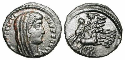 AE4 póstumo de Constantino I. Cuádriga 976002.m