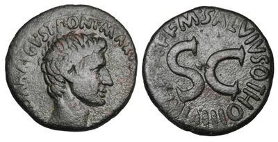 As de Augusto.  M SALVIVS OTHO III VIR A A A F F / SC. Roma 3651585.m
