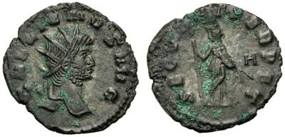 Antoniniano de Galieno. SECVRIT PERPET.  Roma 2350770.m