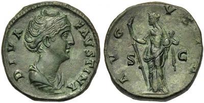 Dupondio de Faustina I. AVGVSTA / S C. Vesta 2531820.m