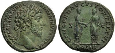 Sestercio de Marco Aurelio. RESTITVTORI ITALIAE IMP VI COS III /S C 2733618.m