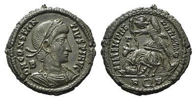 AE2 de Constancio II. FEL TEMP REPARATIO. Roma 3777748.m