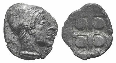 Óbolo de Phokaia dedicado a Illicitano. 1371693.m