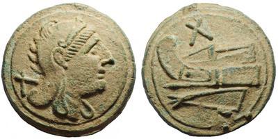 Decussis o (10 Ases de bronce). falsificação ou real? 1537658.m