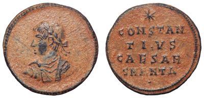 AE3 de Constancio II. CONSTAN/TIVS/CAESAR. Antioquía 1702706.m