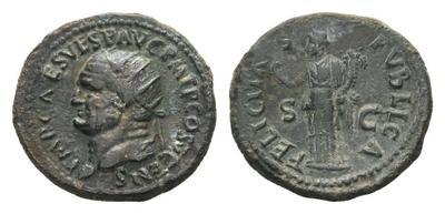Dupondio de Vespasiano. FELICITAS PVBLICA / S C 2067849.m