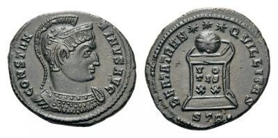 AE3 de Constantino I. BEATA TRANQVILLITAS. Trier 2088848.m