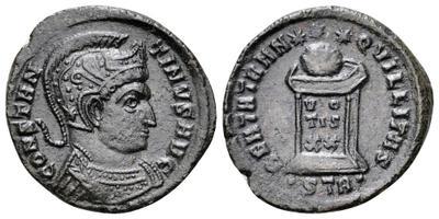 AE3 de Constantino I. BEATA TRANQVILLITAS. Trier 3181423.m