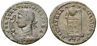 AE3 de Constantino I. BEATA TRANQVILLITAS. Trier 3577338.m