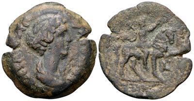 Dracma de Faustina II. Emperador a caballo. Alexandria 4585771.m