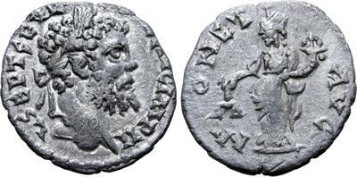 Denario de Septimio Severo. MONET AVG. Laodicea ad Mare 5660593.m