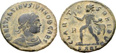 Nummus de Constantino II. CLARITAS REIPVB. Arlés 6662192.m