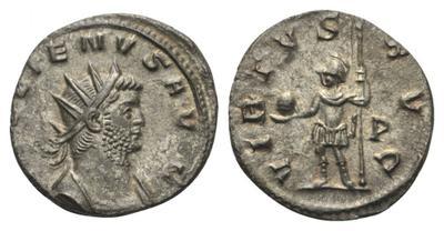 Antoniniano de Galieno. VIRTVS AVG.  Roma 3383286.m