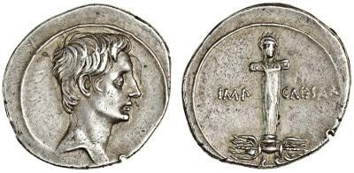 Denario de Octavio Augusto. IMP / CAESAR 1785265.m