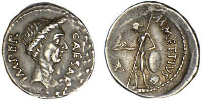 Denario de Julio César. M. METTIVS. Venus a izq. 435879.m