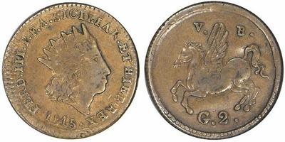 2 Grano de Carlos III -Palermo (Sicilia) 1815 647329.m